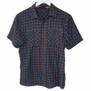Arc'teryx Wool Blend Rust Plaid Button Front Shirt